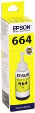 Genuine Epson 664, Yellow Ink Bottle, T664, T6644, T666440, C13T66444010