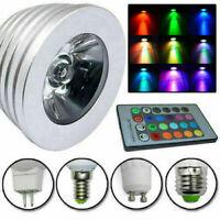 RGB Led Light GU10 MR16 E27 E14 Bulb 16 Colors Magic+ IR Remote Control Lamp