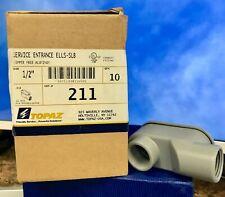 """Box/10 ~Topaz 211 Service Entrance ELLS-SLB, Copper Free Aluminum, 1/2"""""""