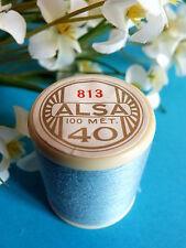 310B/ BELLE BOBINE DE FIL DMC COTON ALSA N° 40 BLEU CIEL N° 813