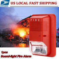 Sound & Light Alert Safety System Sensor Fire Alarm Warning Strobe Siren Horn