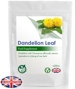 Dandelion Extract 250mg (30/60/90/120/180 Tablets) Blood, Detox, Diuretic UK (V)