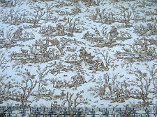 3 Yards Cotton Fabric- Timeless Treasures Paris Rendezvous Vintage Toile Coord