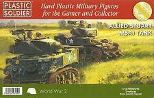 Plastic Soldier 1/72 M5A1 Stuart Light Tank (3 Fast Assembly Tanks)