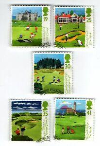 GB Stamps SG1829-1833, Scottish Golf Courses.1994 Multicoloured FDI Edinburgh