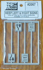 Tichy Train Group #2067 (O Scale) Keep Left & Right Signs 2ea / Text & Pictures