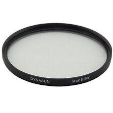 Filtro Star 55 mm 4 Punti Stella 55mm con Custodia per Canon Nikon Sony Pentax