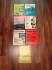 Lot of 7 Vintage Consumer Reports 1971 and 1972