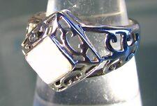 925 silver cut rainbow moonstone gemstone ring UK O¾/US 7.75