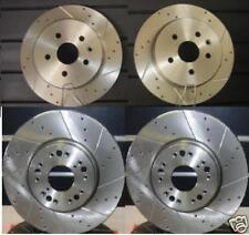 NISSAN MURANO 2.5DCi CROSS DRILLED GROOVED BRAKE DISCS + PADS FRONT REAR