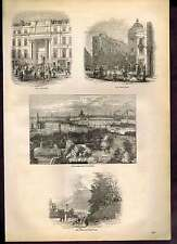 Knightsbridge-Seven Dials-Exerer Hall-London - Old England-1890 Wood Print