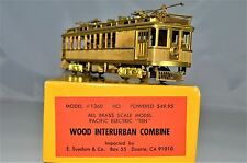 HO Brass Pacific Electric #1360 Wood Trolley Combine Suydam/Orion 1972 XLNT