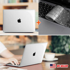 Crystal Clear Case + Keyboard Skin Cover For 2018 Apple Macbook Pro 13inch A1989