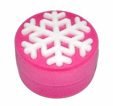 Snow Flake Pink Luxury High Quality Velvet Necklace Pendant Gift Box