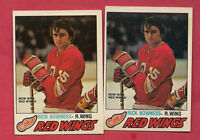 2 X 1977-78 OPC # 265 RED WINGS RICK BOWNESS  ROOKIE CARD