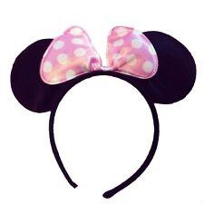 Minnie&Mickey Mouse EarsHeadband/Hair Bows,Fancy Dress/Xmas/HenParties,LightPink
