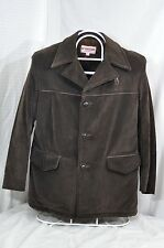 Men's McGregor Corduroy Jacket Car Coat Barn Ranch Western faux fur 42