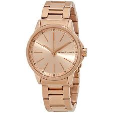 Armani Exchange Lady Banks Ladies Rose Gold-Tone Watch AX4347