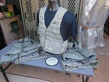 5..FIVE..MILITARY SURPLUS FIGHTING LOAD CARRIER VESTS MOLLE II ACU ARMY HUNTING