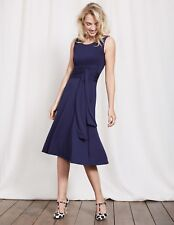 BODEN New Tie Waist Ballet Dress - Navy - UK 14 L