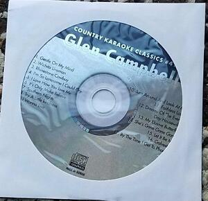 GLEN CAMPBELL KARAOKE CDG COUNTRY KARAOKE CLASSICS CKC41 - RHINESTONE COWBOY