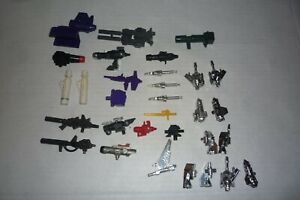 TRANSFORMERS G1 ACCESSORIES PARTS BIG LOT OF 31 DINOBOTS MIRAGE BARRAGE ORIGINAL