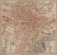 TORINO TORINO Antico CITTA 'CITY Pianoforte piano urbanistico. ITALIA MUNDI 1903