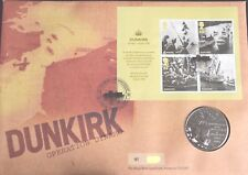 GB QEII ROYAL MAIL / MINT PNC COIN COVER 2010 DUNKIRK 70TH ANNIV WWII MEDAL
