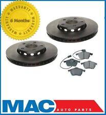 1995-1999 A6 Quattro 2.8L (2) 288MM Brake Disc Rotors Rotor Front & Pads