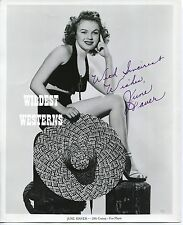 JUNE HAVER Hand Signed Photo SEXY BLONDE Rare Autograph SWIMSUIT