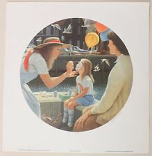Richard Harryman Face Painting Vintage Signed Artist Proof Print