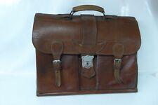 Alte Aktentasche, Echtleder, Leder, 1930er Jahre, Vintage