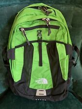 New listing The North Face Recon Unisex Daypack/Backpack Neon Green Good For School And Work