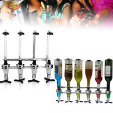 4 Bottle Liquor Dispenser Wine Beer Alcohol Drink Wall Mounted Beverage Holder