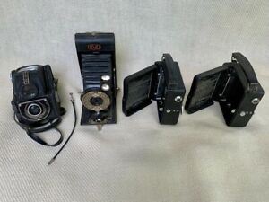 Vintage Camera Job Lot - Bundle of 4 Cameras - Ensign / Pathescope