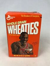 MICHAEL JORDAN CHICAGO BULLS VINTAGE 1990 S SUPER SINGLES WHEATIES CEREAL  BOX 5841e58a4