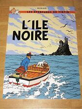 TINTIN POSTER - L´ILE NOIRE / THE ADVENTURES OF TIN TIN - NEW in MINT