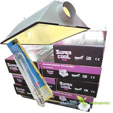 600w air cool vent Hydroponics HPS Grow Light reflector aluminium & Lamp/Bulb
