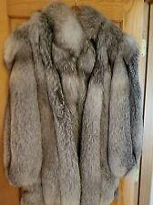 Woman's Indigo Silver Fox Fur Coat