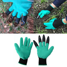 Garden 1 pair Plastic Garden Genie Claws Gloves For Raking,Digging-&Plant.AU
