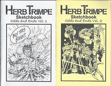 HERB TRIMPE Sketchbook Set Odds and Ends Vol. 1 & 2 RARE Signed #2 Set (of <50)