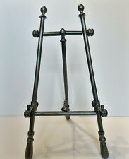 Decorative adjustable iron display easel- silver/pewter