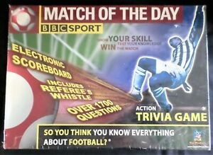 BBC Sport Match Of The Day Action Football Trivia Game New Sealed Electronic