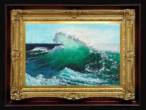 "ORIGINAL Oil Painting Handmade Arseni ~ SEA 6"" X 4"" NO FRAME Artist Art4"