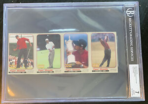 TIGER WOODS 2001 complete uncut sheet SI FOR KIDS BGS graded NEAR MINT