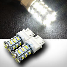 2pc 3157 Dual Contact White 42x 3528 SMD LED Back-up/Reverse Tail Light Bulb 12V