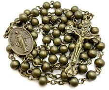 Metal Beads Combat Rosary Necklace St Therese Virgin Of The Smile Medal WW2