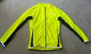 ARSUXEO Men's Cycling Jersey Long Sleeve Full Zip Green Bike Shirt 'EUC'