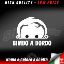adesivo NOME A BORDO auto sticker personalizzato bimbo vetro mod.4