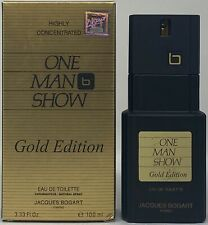One Man Show Gold Edition by Jacques Bogart 3.3 oz EDT Spray Men 95% Full Boxed